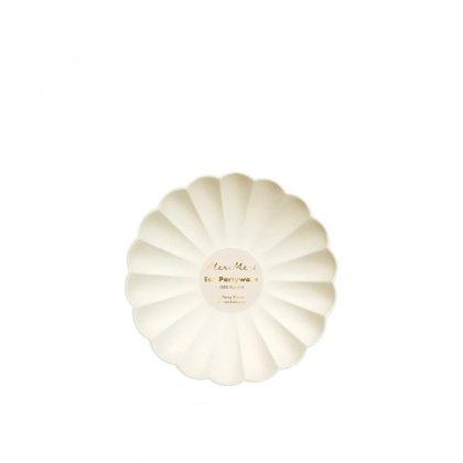 Lėkštės šventei Cream Simply Eco (didelės, 8 vnt.)