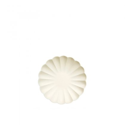 Lėkštės šventei Cream Simply Eco (mažos, 8 vnt.)