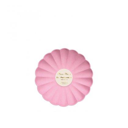 Lėkštės šventei Deep Pink Simply Eco (didelės, 8 vnt.)