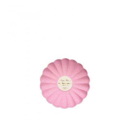 Lėkštės šventei Deep Pink Simply Eco (mažos, 8 vnt.)