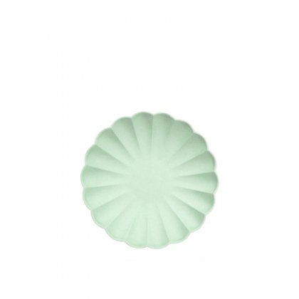 Lėkštės šventei Pale Mint Simply Eco (didelės, 8 vnt.)