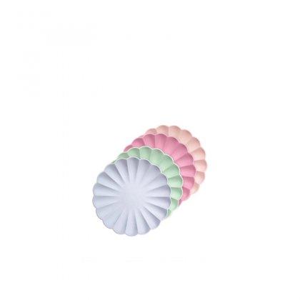 Lėkštės šventei Multicolor Simply Eco (mažos, 8 vnt.)