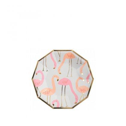 Lėkštės šventei Flamingo (mažos, 8 vnt.)