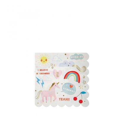 Servetėlės Rainbow & Unicorn